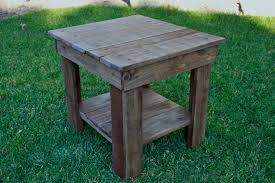 reclaimed wood end tables pallet end table rustic end table primitive by lynxcreekdesigns