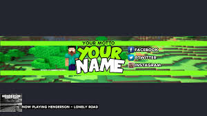youtube channel art minecraft. Simple Channel Free Minecraft YouTube BannerChannel Art Template PSD Download  Throughout Youtube Channel