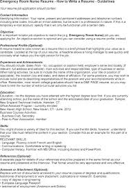 Er Nurse Resume Sample Er Resume Resume Sample For Er Nurse Resume ...