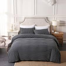 pure era ultra soft egyptian quality jersey knit cotton home bedding duvet cover set stripes