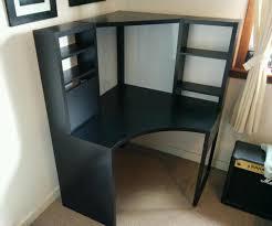 ikea micke corner workstation black brown new