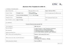 Comprehensive Business Plan Template