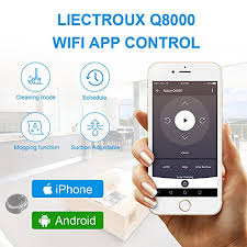 <b>Liectroux</b> Q8000 <b>Robot Vacuum</b> Cleaner with WiFi APP Control, 2D ...
