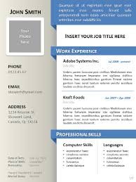 Free Curriculum Vitae Template Cool Clean ResumeCV Template For Powerpoint
