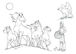 Coloring Pages Wild Mustang Coloring Pages Horse For Kids Also