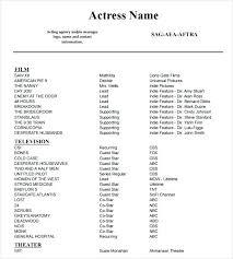 Actor Resume Template Gorgeous Sample Acting Resume Eukutak