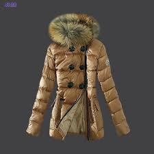 Moncler down jackets womens zip fur collar light tan,moncler grenoble, moncler polo shirt,luxury fashion brands