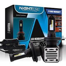 Amazon Com Nighteye H4 Hi Lo Dual Beam Led Headlight Bulbs