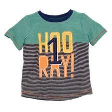 Mud Pie Growth Chart Boys 1st Birthday Hooray T Shirt