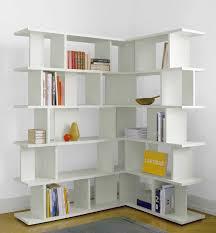 Modern Corner Bookcase White