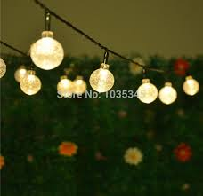 outdoor string lights solar powered solar led string lights