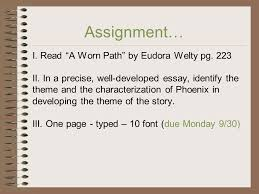 theme ppt video online  i a worn path by eudora welty pg 223