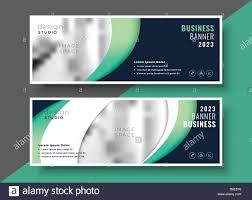 Professional Business Banner Template Layout Design Stock