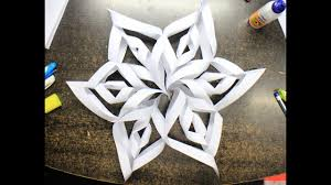 How To Make A 3d Snowflake How To Make Easy And Quick 3d Snowflake In 7 Minutes Perfect Christmas Decoration