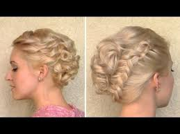 curly wedding updo prom hairstyle for