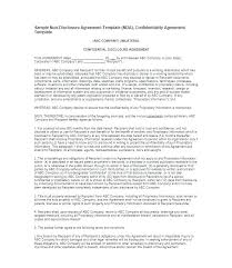 Confidentiality Agreement Example Pdf. Non Disclosure Agreement ...