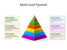Pyramid Ppt Ppt Slide Pyramid Diagram 6 Stages Multicolor