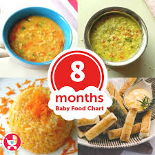 8 months baby food chart with a guide