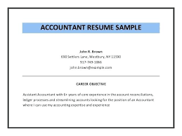 Examples Of Accounting Resumes Delectable Resume Objective For Finance Professional Accounting Letsdeliverco