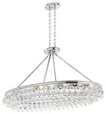 crystorama calypso 8 light crystal teardrop chrome oval chandelier
