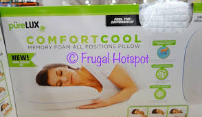 novaform lasting cool pillow. for side, back and stomach sleepers \u2022 increased air flow a more comfortable night\u0027s sleep cooling gel top layer with cool touch cover novaform lasting pillow