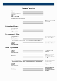 Empty Resume Template Essays On Teaching And Learning Vol Iii