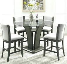 round counter height dining table set counter height glass dining table kangas 5 piece round counter