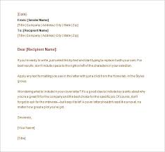 Sample Professional Business Letter Template Word