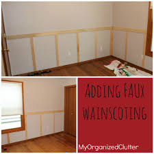 diy faux wainscoting diy faux wainscoting on textured walls diy faux wainscoting