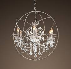 foucaults orb crystal chandelier polished nickel medium for new property crystal orb chandelier prepare