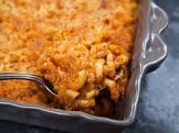 baked chorizo cheesy mac