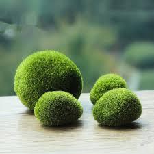 Decorating With Moss Balls Green Artificial Moss Stones Grass Bryophytes Home Garden Bonsai 56