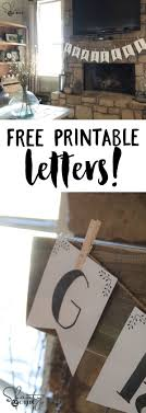 FREE printable letter banners! You can print the entire alphabet for free.