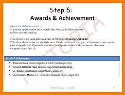 Achievements In Resume Amazing 48 Achievements In Resume For Freshers Preparation Pictoria Slideshow