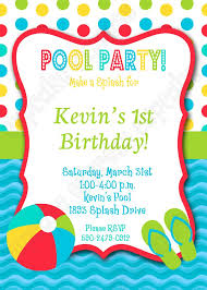 30 best pool party birthday ideas images on anniversary pool party birthday invitations