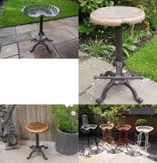 wooden tractor seat bar stools. Wooden Tractor Seat Bar Stools N