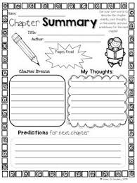 best library media images library ideas chapter summary 10 printables for use any chapter book