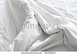 Bedding Sheets Creasewhite Fabric Wrinkled Texture Stock Photo