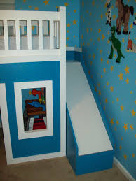 loft with slide. playhouse loft bed with stairs and slide, bed, slide