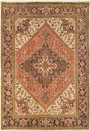 mansour heriz high quality persian hand woven wool terracotta area rug