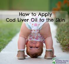 how to apply cod liver oil to the skin