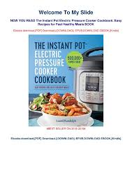 Electric Pressure Cooker Time Chart Pdf Pdf The Instant Pot Electric Pressure Cooker Cookbook Easy
