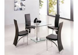 small glass dining table. Express Delivery Alba Square Clear Glass Dining Table Small