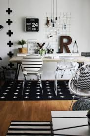 Creative Office Designs Cool Black And White Office Love ItI Need That R For My Work Space