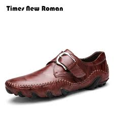 times new roman fashion autumn style soft moccasins men loafers high quality genuine leather shoes men flats ping hungama
