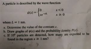 Solved Stop To Think 39m The Value Of The Constant A Is A