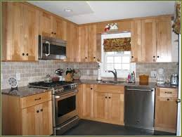 maple kitchen cabinets with black appliances. Black Appliances Oak Together With Maple Kitchen Cabinets · \u2022. Extraordinary O
