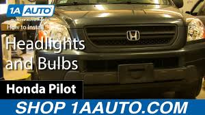 2003 Honda Odyssey Light Bulb Size How To Replace Headlight Assembly 03 05 Honda Pilot