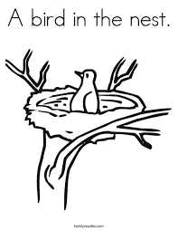 Small Picture A bird in the nest Coloring Page Twisty Noodle