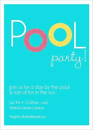 Best Pool Party Invitations Images On Invitation Word Templates Free